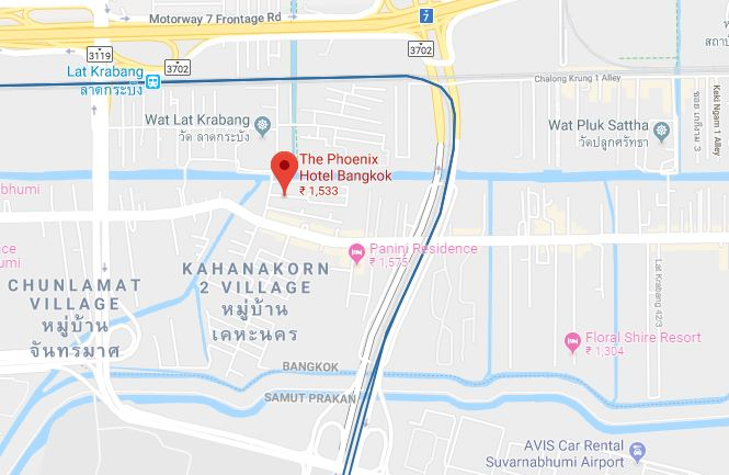 The Phoenix Hotel-map