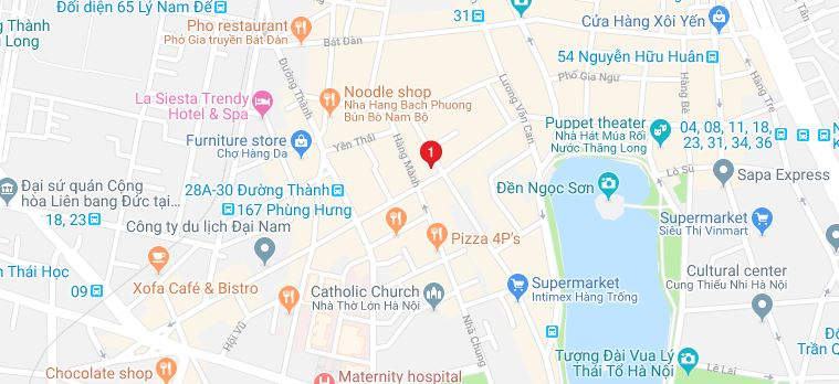 Lucky 2 Hang Hom Street - Location