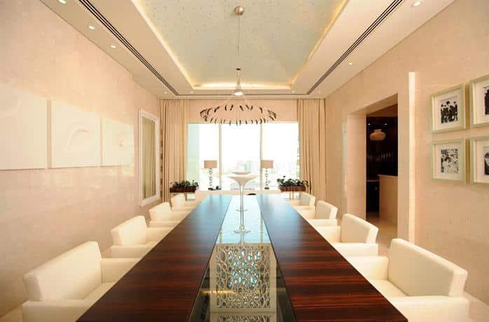 Raffles Dubai - Dining Area